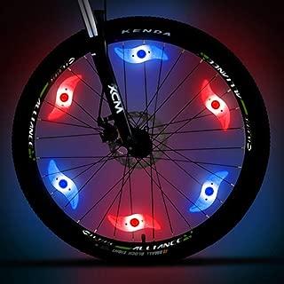 MACYWELL Bike Wheel Lights LED Bike Spoke Lights for Colorful Bike Spoke Decorations Batteries Included