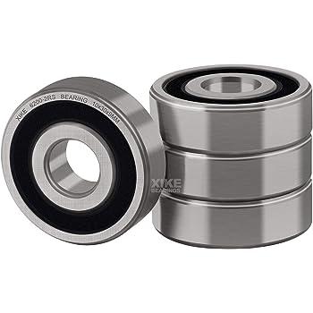 6205RS 4 PCS Rubber Sealed Ball Bearing Set BLACK 6205-2RS 25x52x15 mm
