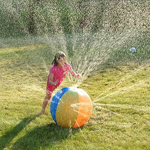 WANGYING Aufblasbare 30 Zoll-wasserbälle, Klassisches Regenbogen-Sprinkler-spritzspielzeug Für Kinder, Poolparty Für Kinder, Im Freien, Garten, Garten