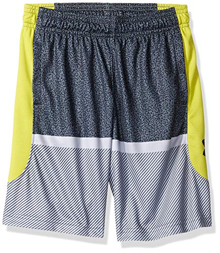 Under Armour Baseline Shorts, Pitch Gray//Black, Youth Large