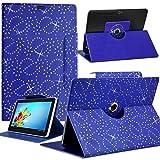 Seluxion-Funda universal M, diseño de brillantes, color azul, para tablet BQ Curie 2 8