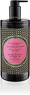 Body Wash, Jojoba Oil and Vitamin E Moisturizing Body Hand Cleanser for Women, Luxury Flower Shower Gel for Dry Skin, Mor Emporium Classics Flower Shower Gel Lychee Flower Aroma 500mL / 16.9 fl. Oz