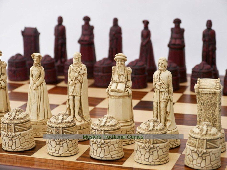 hasta 42% de descuento Scottish Themed Ornamental Chess Chess Chess Set (Cream and rojo, no Board)  ahorra hasta un 80%