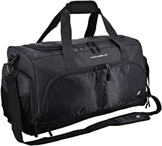 Ultimate Gym Bag 2.0: The Durable Crowdsource Designed Duffel Bag with 10 Optimal Compartments Including Water Resistant Pouch (Black, Medium (20