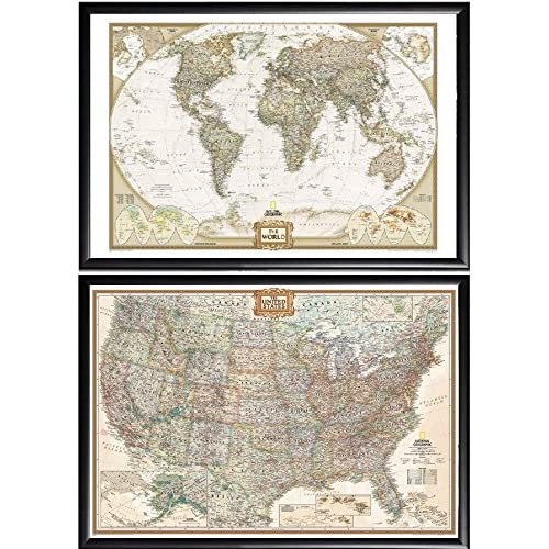 Amazon Com Poster Art House 2 Push Pin Maps By National Geographic