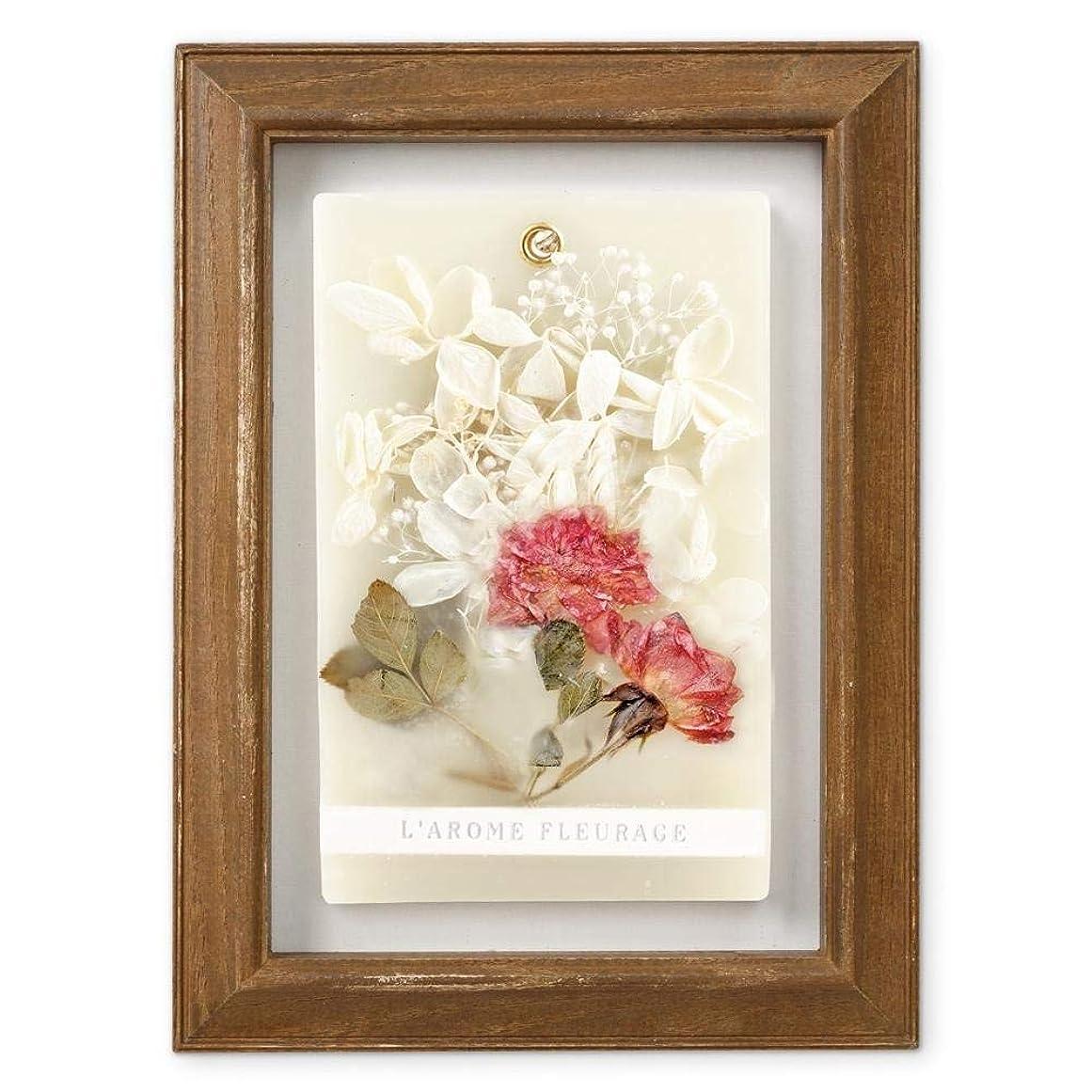 折るガイドリレーFLEURAGE(フルラージュ) アロマワックスサシェ ワイルドローズの香り Rose×AntiqueBrown KH-61122
