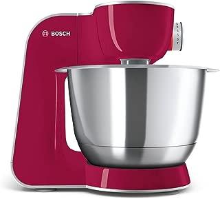 Bosch CreationLine MUM58420 厨师机 (1000 W, 3,9 l, 不锈钢搅拌碗, 3D 搅拌系统, 7 档位) rot Diamond/silber