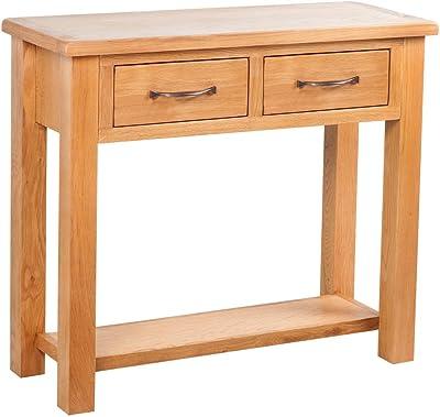 Langer Naturholzmöbel Konsolentisch Holz Olinda Shabby