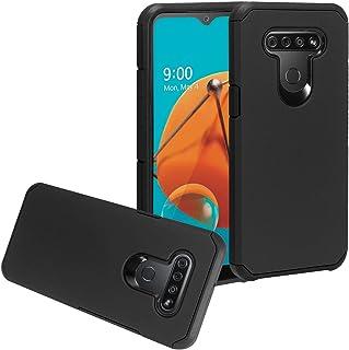 CELZEN - for LG K51, LG Reflect (LM-K500) - Rubberized Hybrid Phone Case - AH2 Black