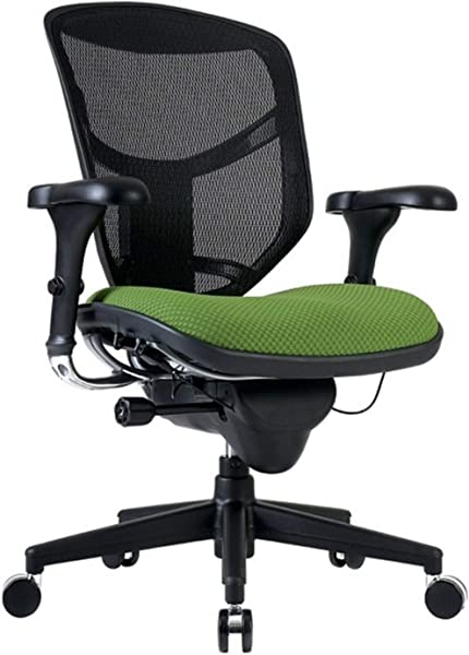 WorkPro Quantum 9000 Series Ergonomic Mid Back Mesh Fabric Chair Black Lime