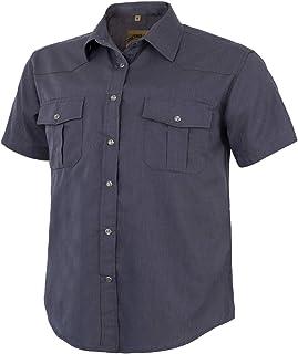 Coevals Club Men's Short Sleeve Casual Western Plaid Press Buttons Shirt