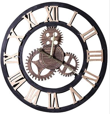 ZDD Vintage Industrial Wind Wall Clock Living Room Hair Salon Clock Decoration Gear Wall Clock Bar