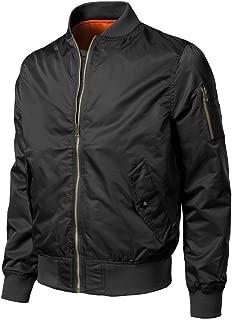 Men Zipper Outwear Autumn Winter Casual Solid Bomber Jacket