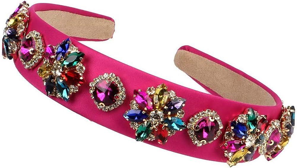 Fashion New Luxury Max 44% OFF Colorful Glass Women Crystal Headbands Handma Long-awaited