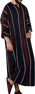 Men's Shirt Arabic Style Simple Long Muslim Robe Moroccan Thobe Robe Fancy Dress