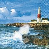 20 Servietten Lighthouse on a Cliff – Leuchtturm/Maritim/Meer/Insel 33x33cm