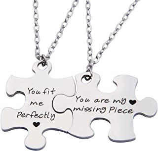 Couples Puzzle Keychain You Are My Missing Piece You Fit Me Perfectly Set Of Two