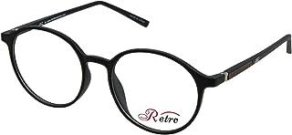 RETRO Unisex-adult Spectacle Frames Round 5205 M.Black/Brown