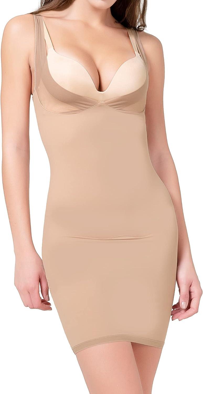MISS MOLY Full Slips for Women Under Dresses Slip Shapewear Tummy Control Seamless Full Body Shaper Cami Slip Dress