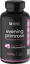 Evening Primrose Oil (1300mg) 120 Liquid Softgels ~ Cold-Pressed with No fillers or Artificial Ingredients ~ Non-GMO & Gluten Free