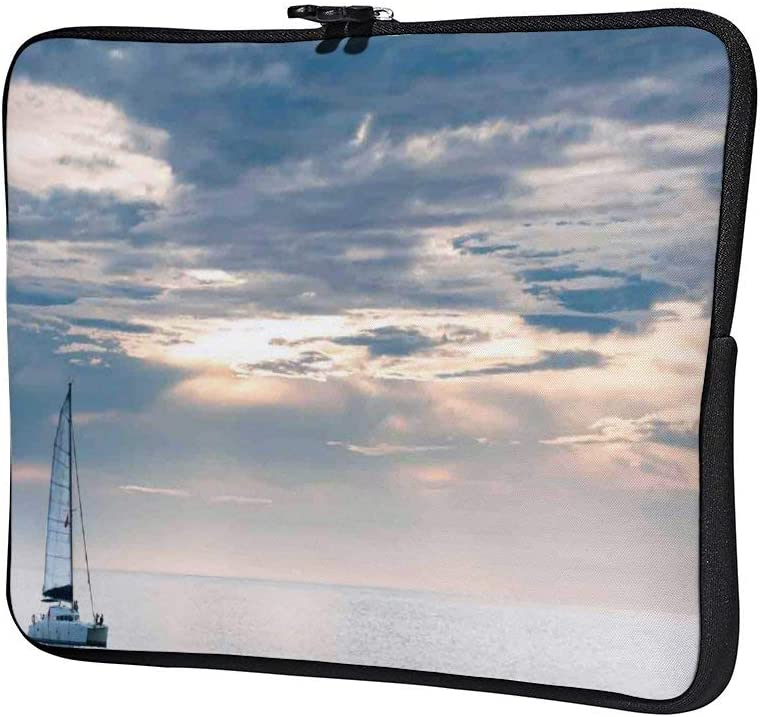 Sailboat Nautical 10 Inch Laptop Sleeve Case Protective Cover Carrying Bag for 9.7 10.5 iPad Pro Air// 10 Microsoft Surface Go// 10.5 Samsung Galaxy Tab