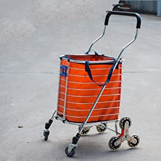 LQBDJPYS Lightweight Climbing Shopping Trolley Cart 8 Wheel Folding Swivel Wheel Luggage Cart Folding Luggage Bags
