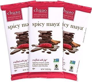 Chocolate Bars - Chuao Chocolatier Chocolate Bars 3pk (2.8 oz bars) - Best-Selling Chocolate Pack - Gourmet Artisan Chocolate - Free of Artificial Flavors (Spicy Maya, Dark Chocolate)