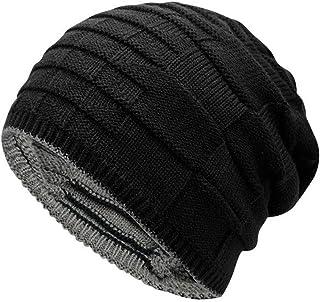 Zegoo Double-Sided Wearable Trendy Warm Soft Stretch Knit Slouchy Beanie Skull Hat Cap