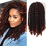 Spring Twist Hair 8 Inches Crochet Braids Ombre Red Spring Twists...