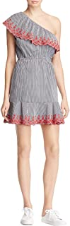 Womens Gingham One Shoulder Casual Dress