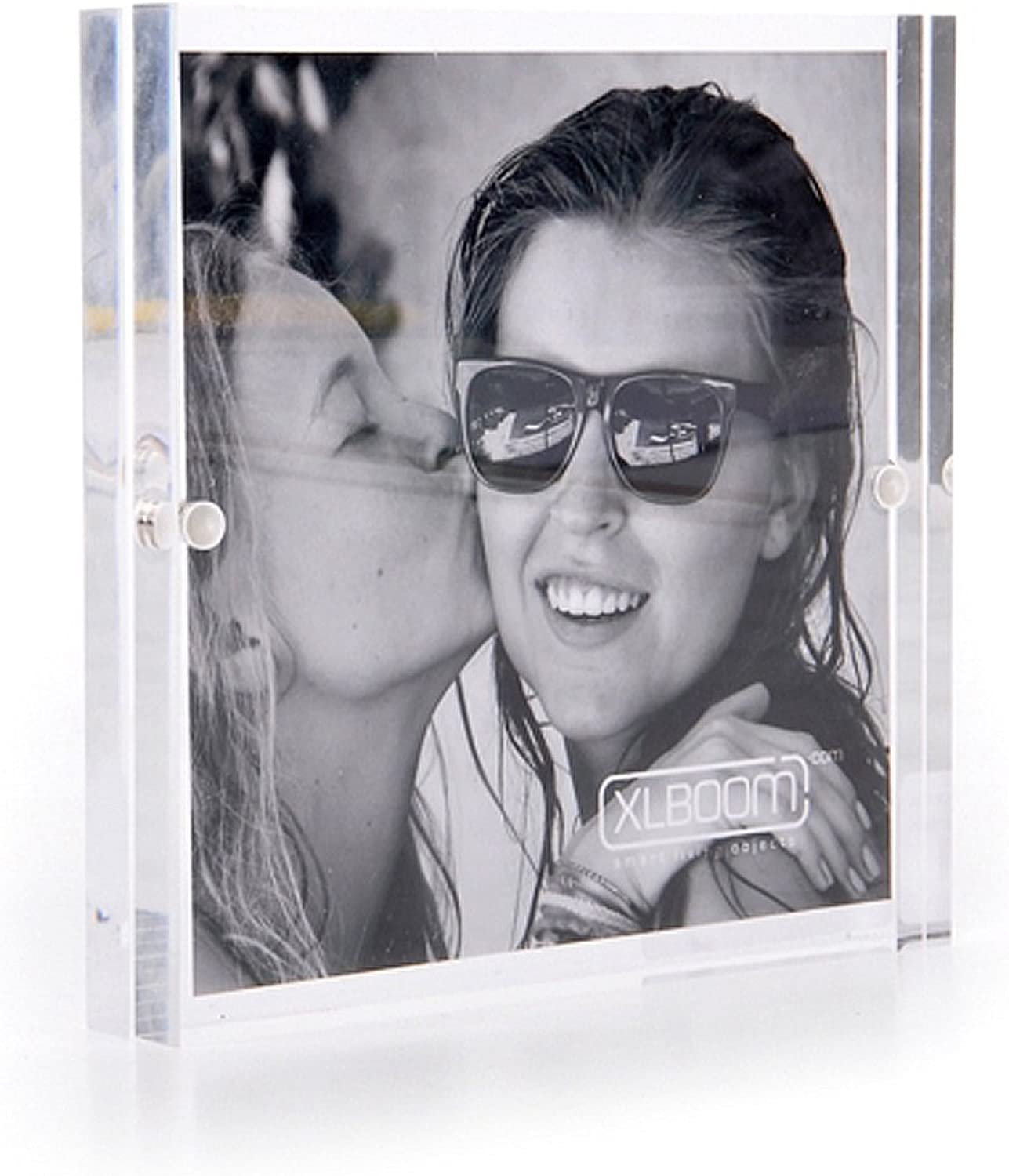Acrylic Magnetic Clear Photo Frame, 18x18cm