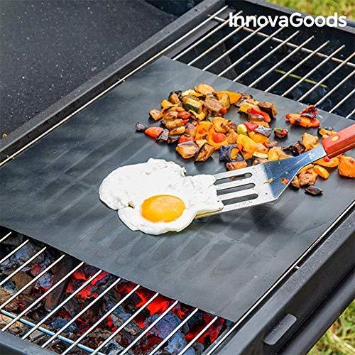 InnovaGoods Antihaftmatte für Backofen und Grill, Fiberglas, Schwarz, 33 x 40 x 2 cm, 2 Stück