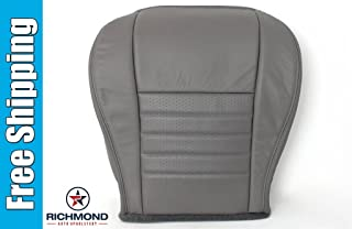 Richmond Auto Upholstery - Driver Side Bottom Replacement Leather Seat Cover, Gray (Compatible with 2003 Ford Mustang GT Coupe)