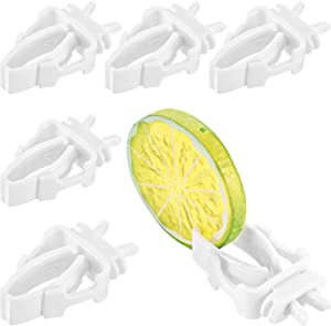 6 Pieces Bird Cage Food Holder Parrot Fruit Vegetable Clips Bird Cage Feeder Clip for Budgie Parakeet Cockatoo Macaw Cockatiel Conure