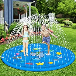 summer fun for kids: sprinkler splash mat