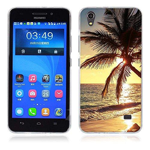 FUBAODA Funda para Huawei Honor 4 Play Serie Hermosa y romántica del Paisaje,Funda Protectora Anti-Golpes para para Huawei Honor 4 Play/Ascend G620S(G621)