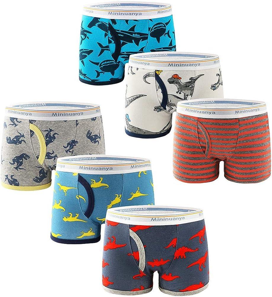 Happy Cherry Toddler Boys Boxer Briefs Cotton Training Boxer Performance Underwear Assorted 6 Pack