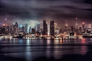 A Gotham Night Stormy New York City NYC Skyline Photo Art Print Cool Huge Large Giant Poster Art 54x36