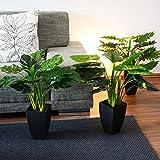 INtrenDU Künstliche Dekopflanze Palme Kunstpflanzen im Topf Kunstblumen Fensterdeko künstliche Pflanze (Variante 3) - 4