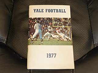1977 YALE COLLEGE FOOTBALL MEDIA GUIDE EX-MINT BOX 13