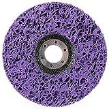 Disco de Limpieza, COTEY Discos de Limpieza para Amoladora Angular Disco de Limpieza Gruesa para Amoladora Angular, Eliminación de Óxido de Pintura Limpiar, 125 x 22 mm(Violeta)