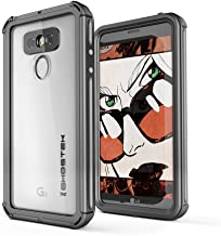 LG G6 Waterproof Case, Ghostek Atomic 3 Series for LG G6 Underwater Slim Cover Shockproof Shock Absorption Dustproof Aluminum Rubber Extreme Tough Heavy Duty Rugged Armor Swimming Immersible (Black)