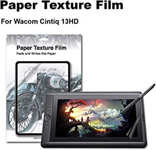 Green Onions Supply Paper Texture Screen Protector for Wacom Cintiq 13HD Paper Screen Sketch/Anti Glare/Matte/Made in Japan/Scratch Resistant/PET [1 Pack]