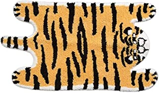 Cute Soft Tiger Shaped Animals Bath Mat Area Rug for Bedroom Kitchen Bathroom Floor Water Absorption Non-Slip Small Carpet...