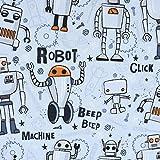 SCHÖNER LEBEN. French Terry Sommersweat Roboter Werkzeug