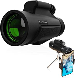 Monocular Telescope,10x42 Compact Monocular Scope, High Power Zoom Monocular for Adults - Waterproof, Shockproof, Night Vision Monocular for Bird Watching Hunting, with Phone Adapter&Tripod&Hand Strap