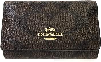 [コーチ] COACH コーチキーケース シグネチャー 5連キーケース F77998 IMAA8 ダークブラウン×ブラック [並行輸入品]