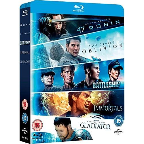 47 Ronin/Oblivion/Battleship/Immortals/Gladiator [Edizione: Regno Unito] [Reino Unido] [Blu-ray] a buen precio