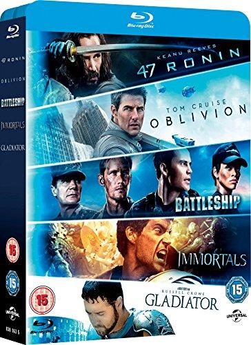 47 Ronin/Oblivion/Battleship/Immortals/Gladiator [Edizione: Regno Unito] [Reino Unido] [Blu-ray]