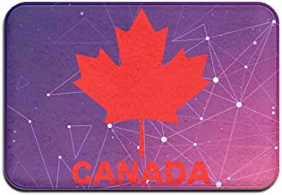 Youbah-01 Indoor/Outdoor Doormat with Canadian Flag Canada Maple Leaf Graphic for Patio Or Entryway